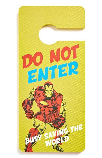 Oferta de Cartel para pomo de puerta de Ironman de Marvel por 2,5€