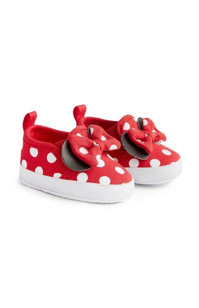 Oferta de Zapatillas rojas sin cordones de Minnie Mouse por 6,5€