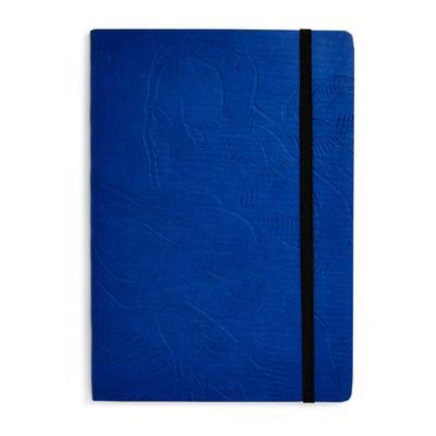 Oferta de Cuaderno A5 azul en relieve de Marvel por 3€