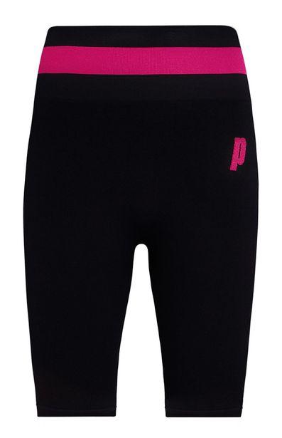 Oferta de Pantalón corto de ciclismo rosa y negro Prince por 10€