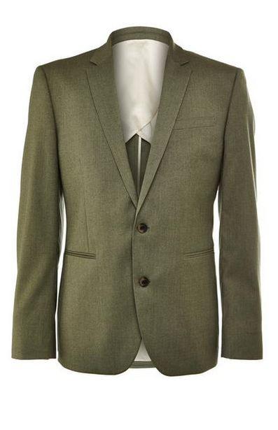 Oferta de Chaqueta de traje premium color caqui por 40€