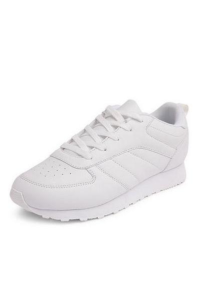 Oferta de Zapatillas clásicas blancas por 14€