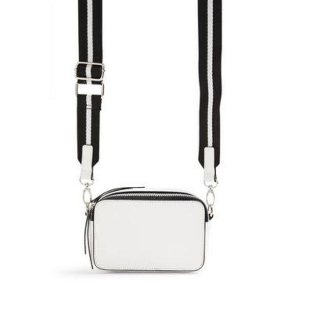 Oferta de Bolso para cámara blanco de diseño cuadrado por 8€