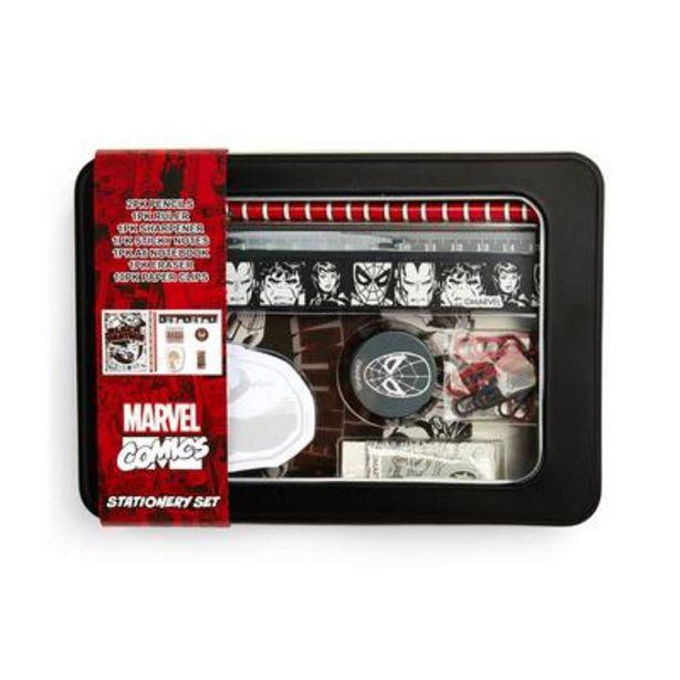 Oferta de Lata con artículos de papelería de Marvel por 4,5€