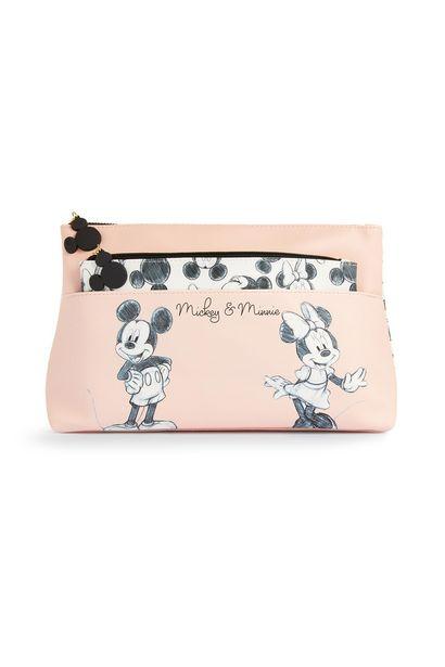 Oferta de Neceser de maquillaje 2 en 1 rosa de Mickey and Minnie Mouse por 8€