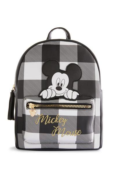 Oferta de Mochila negra a cuadros de Mickey Mouse por 14€