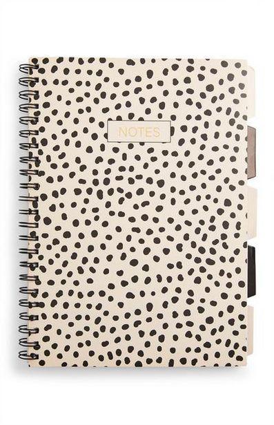 Oferta de Cuaderno A4 a topos con pestañas por 3€
