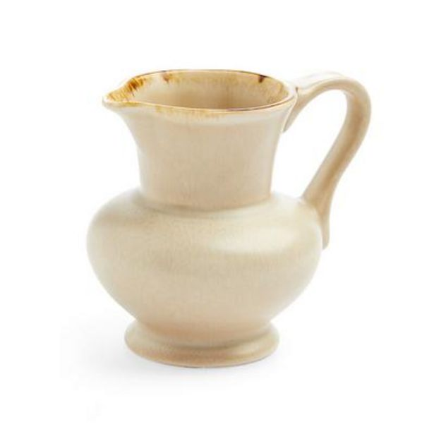 Oferta de Jarra para la leche beige de cerámica esmaltada por 8€