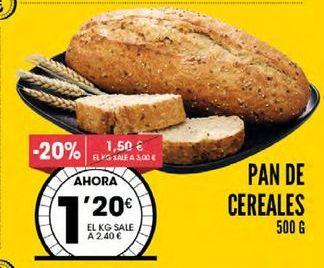 Oferta de Pan de cereales por 1,2€