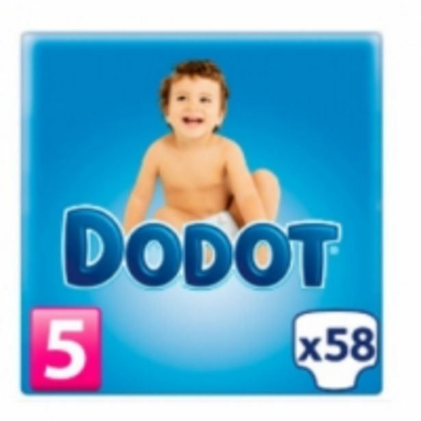 Oferta de Dodot Bebé Seco Pañales Talla 5 por 13,49€