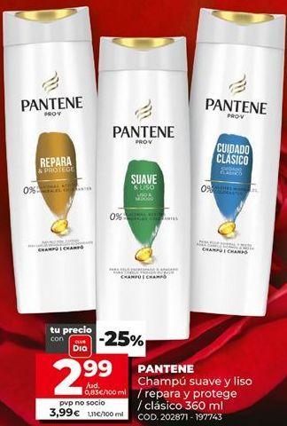 Oferta de Champú Pantene por 2,99€