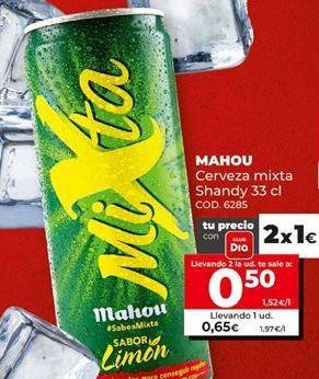Oferta de Cerveza con limón Mahou por 0,5€