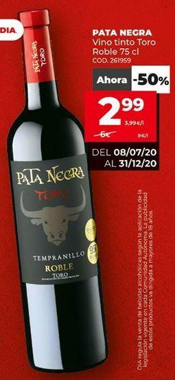 Oferta de Vino tinto Pata Negra por 2,99€