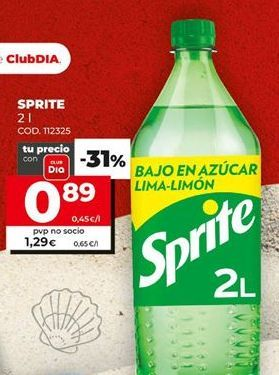 Oferta de Refresco de limón Sprite por 0,89€