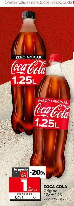 Oferta de Refresco de cola Coca-Cola por 1€