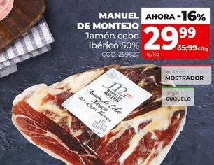 Oferta de Jamón de cebo por 29,99€
