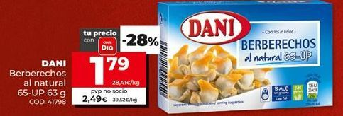 Oferta de Berberechos Dani por 1,79€