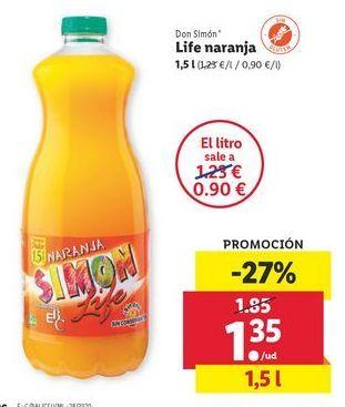 Oferta de Life Naranja Don Simón por 1,35€