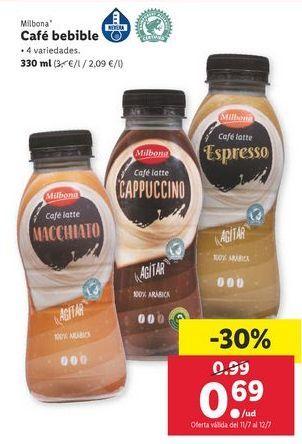 Oferta de Café bebible Milbona por 0,69€