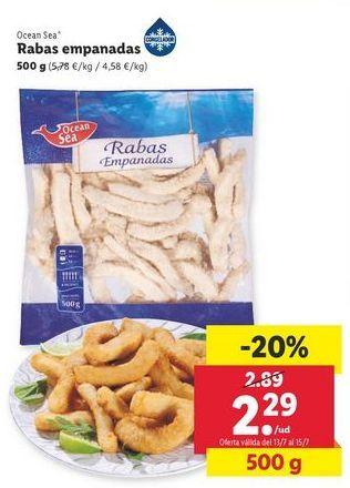 Oferta de Rabas empanadas Ocean sea por 2,29€