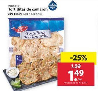 Oferta de Tortillitas de camarón ocean sea por 1,49€