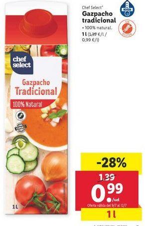 Oferta de Gazpacho tradicional chef select por 0,99€