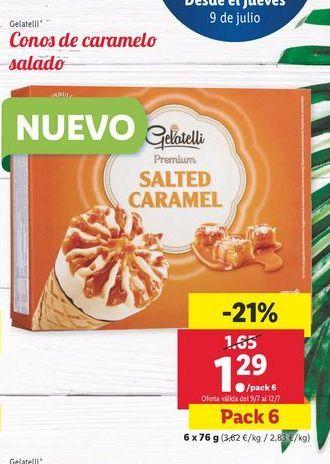 Oferta de Conos de caramelo salado Gelatelli por 1,29€