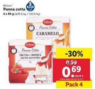 Oferta de Panna cotta Milbona por 0,69€