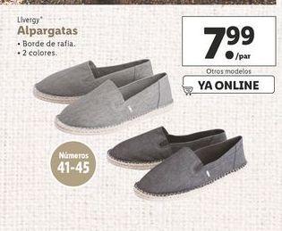 Oferta de Alpargatas Livergy por 7,99€