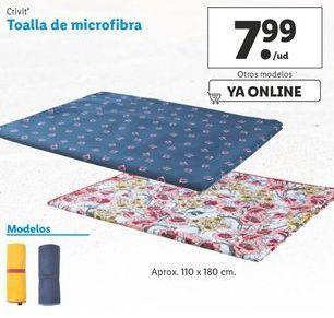 Oferta de Toalla de microfibra Crivit por 7,99€