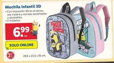 Oferta de Mochila infantil 3D por 6,99€