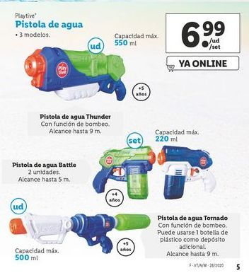 Oferta de Pistola de agua Playtive por 6,99€
