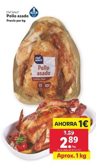 Oferta de Pollo asado chef select por 2,89€
