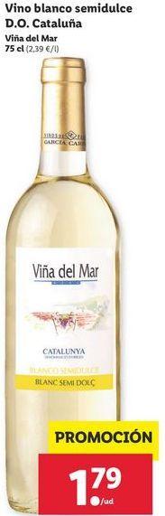 Oferta de Vino blanco semidulce D.O. Cataluña Viña del Mar por 1,79€
