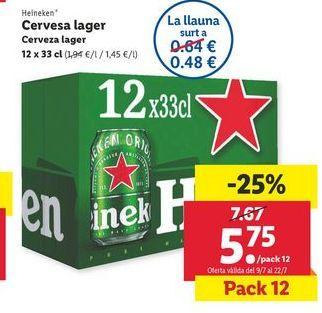 Oferta de Cerveza lager Heineken por 5,75€