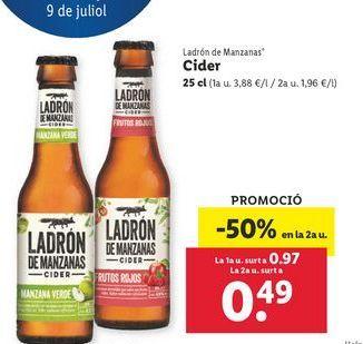 Oferta de Cider Ladrón de Manzanas por 0,97€