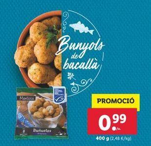 Oferta de Buñuelos de bacalao Monissa por 0,99€