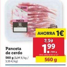 Oferta de Panceta de cerdo por 1,99€