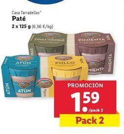 Oferta de Paté Casa Tarradellas por 1,59€