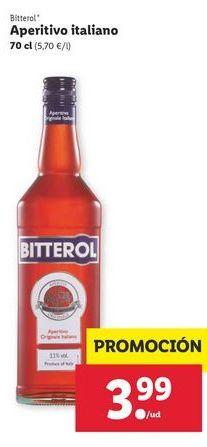 Oferta de Aperitivo italiano Bitterol por 3,99€