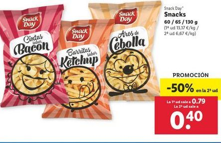 Oferta de Snacks Snack Day por 0,79€