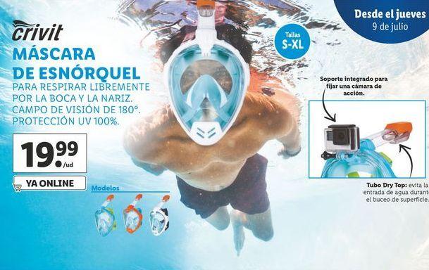 Oferta de Máscara de snórquel Crivit por 19,99€
