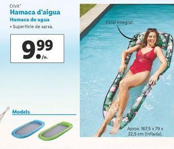 Oferta de Hamaca de agua Crivit por 9,99€