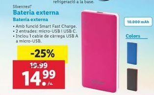 Oferta de Batería externa SilverCrest por 14,99€
