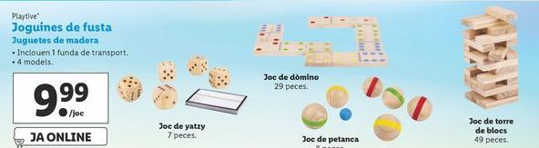 Oferta de Juguetes de madera Playtive por 9,99€