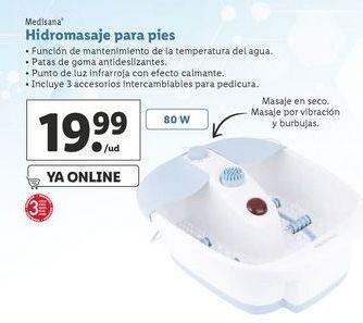 Oferta de Hidromasaje para pies Medisana por 19,99€