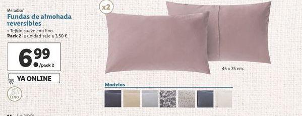 Oferta de Fundas de almohada reversibles Meradiso por 6,99€