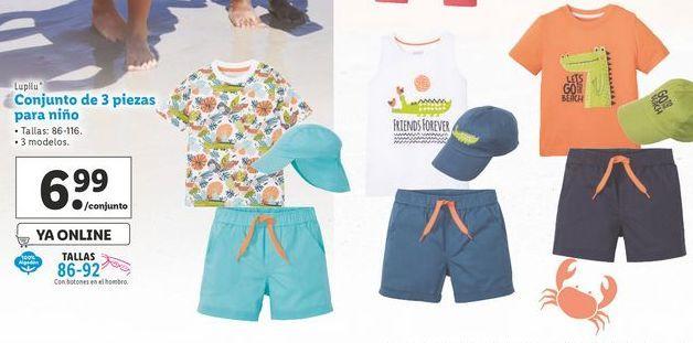 Oferta de Conjunto de 3 piezas para niño Lupilu por 6,99€