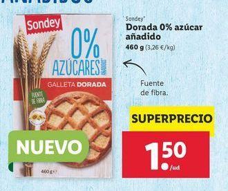Oferta de Dorada 0% azúcar añadido Sondey por 1,5€