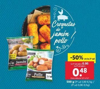 Oferta de Croquetas de jamón / pollo por 0,95€